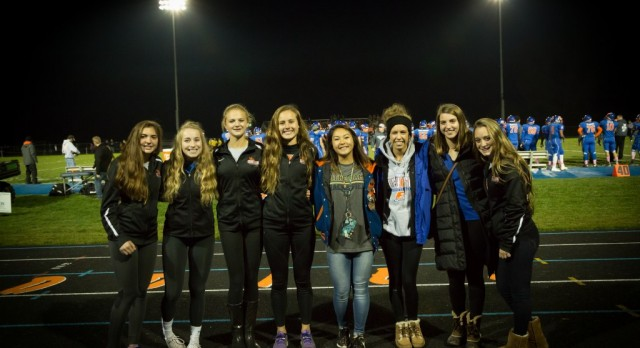 2016 track record breakers honored at football game