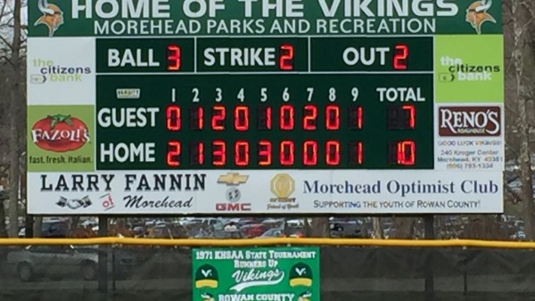 New Scoreboard Possible Thanks To Local Businesses This