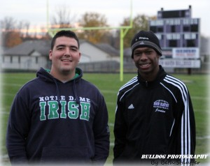 Assistant Coach Chris Schenkel and Jordan Hogue