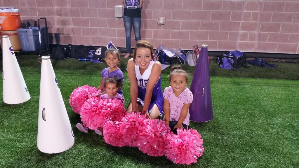 Captain Maci with our Mini Cheerleaders