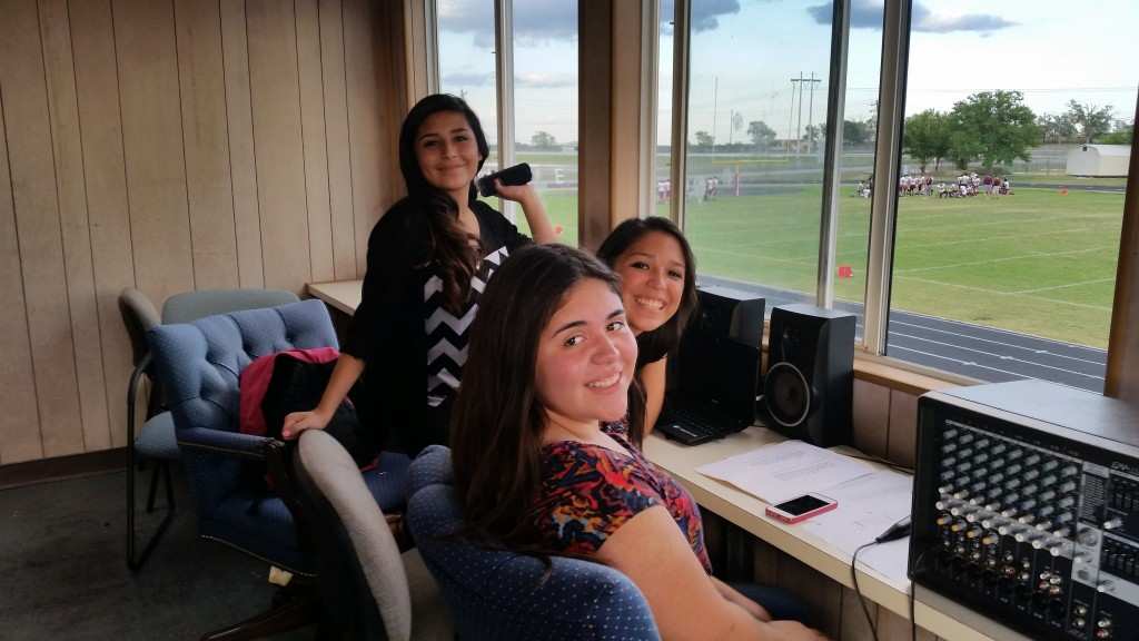 Norma, Lacey, and Zoe helping out as announcers!