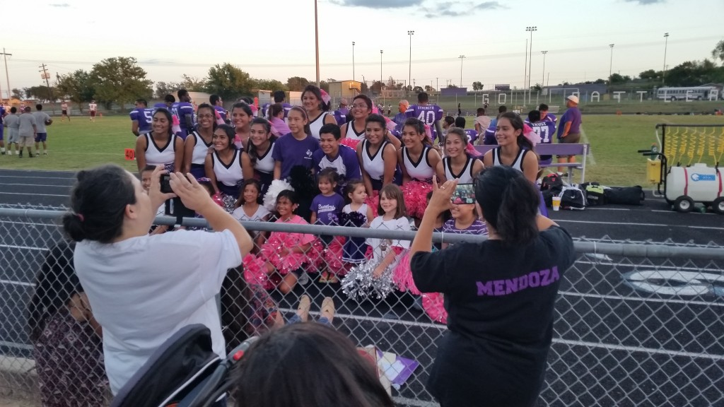 Picture Time with our Littlest Rattler Cheerleaders
