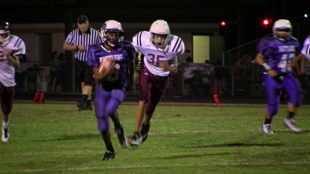 Chris Rodriguez  runs in a Rattler touchdown.