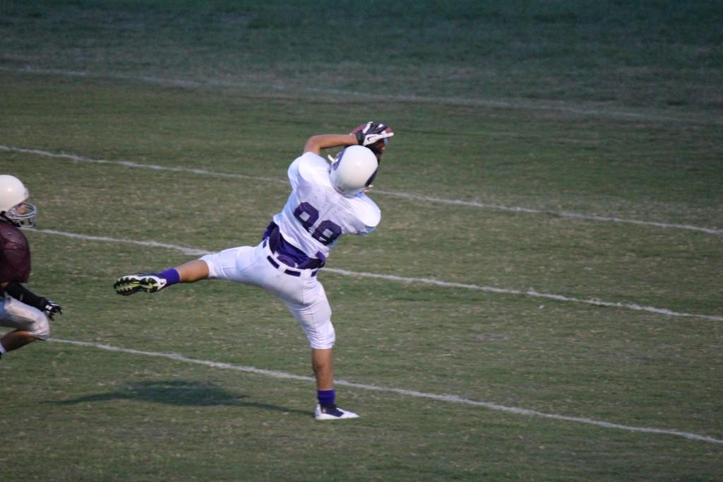 Carlos Hernandez catches a 40 yard TD pass
