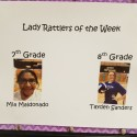 Miller Lady Rattler Athletes of the Week