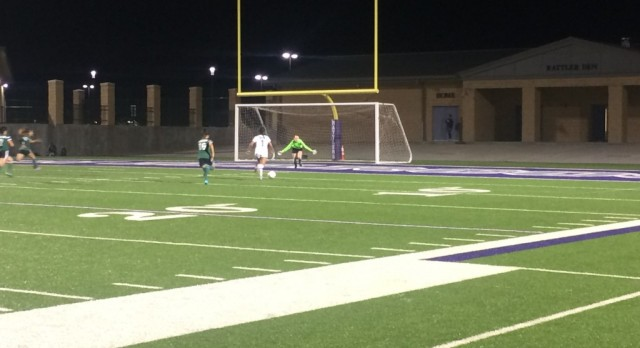 Varsity Soccer Girls Mark off Bryan Rudder