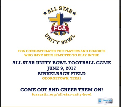 Four Footballers in the FCA Allstar Game