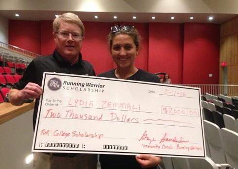 Zemmali Awarded Running Warrior Scholarship