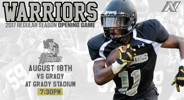 Opening football game Friday night versus Grady