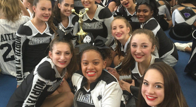 Varsity Competition Cheer takes 2nd Place in APS Cheer Competition