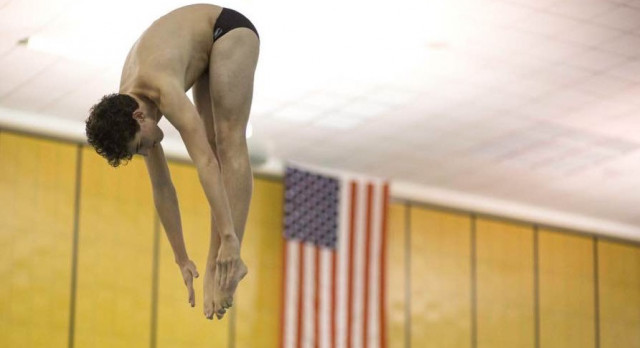 Diver Drew Sheldon Wins First Place for NAHS at Marist Meet