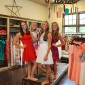 Cheerleaders at Southern Chic Dress Boutique