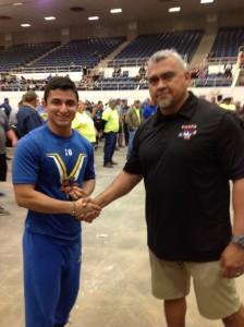 Oscar with A. Guzman, Regional Director