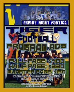 Football Program Ads 2016