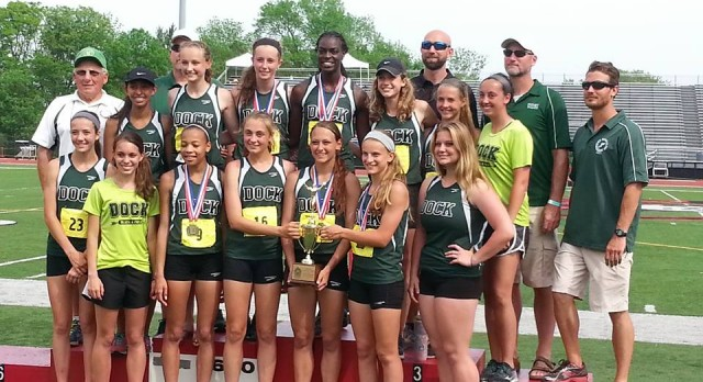 Girls Track Takes 1st Place at District 1 AA Championship Meet