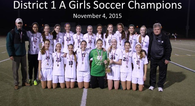 Girls Soccer Takes District Title 5th Straight Year!