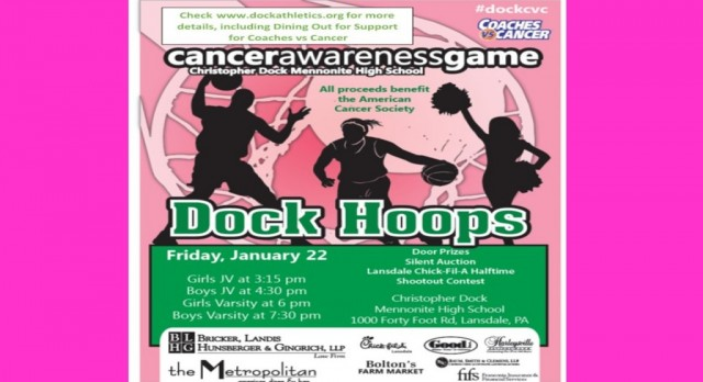 Coaches vs Cancer coming to Dock on January 22