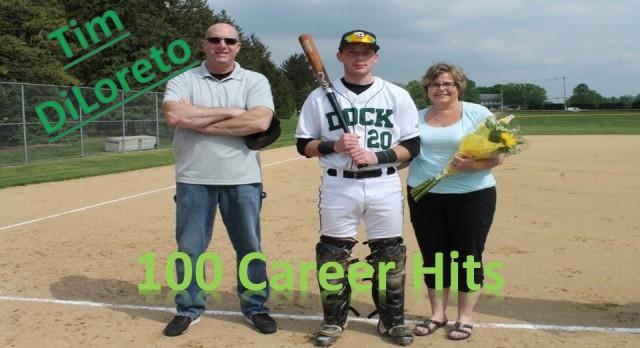 Tim DiLoreto reaches 100 career hits!