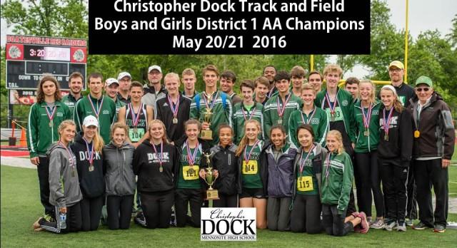 Dock Boys/Girls Sweep District 1 AA T&F Championships