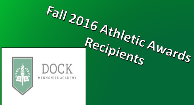 Fall 2016 Athletic Awards Recipients