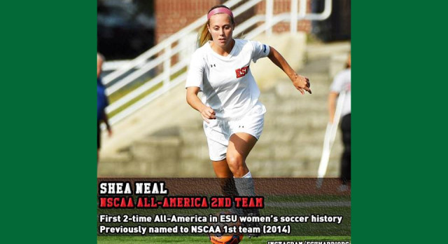 Shea Neal ('13) Most Decorated Women's Soccer Player in ESU History