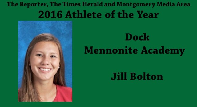 Jill Bolton-2016 The Reporter, The Times Herald and Montgomery Media Area Athlete of the Year