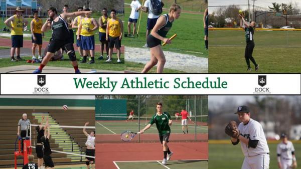 Weekly Athletic Schedule 1