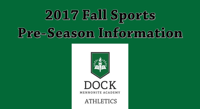 2017 Fall Sports Pre-Season Information