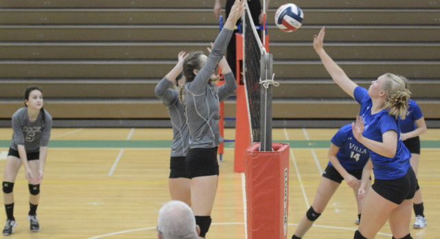 Dock Vball Downs District Rival Sacred Heart In 5