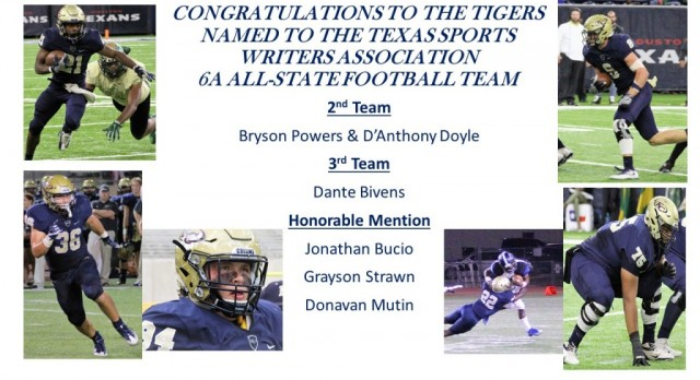 6 TIGERS Named to All State Team