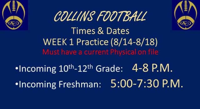 1st Week of Practice Info