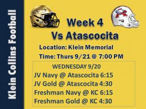 vs Week 4 Game Slide