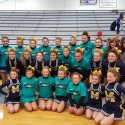Cheerleaders at Mid-State Conference Competition