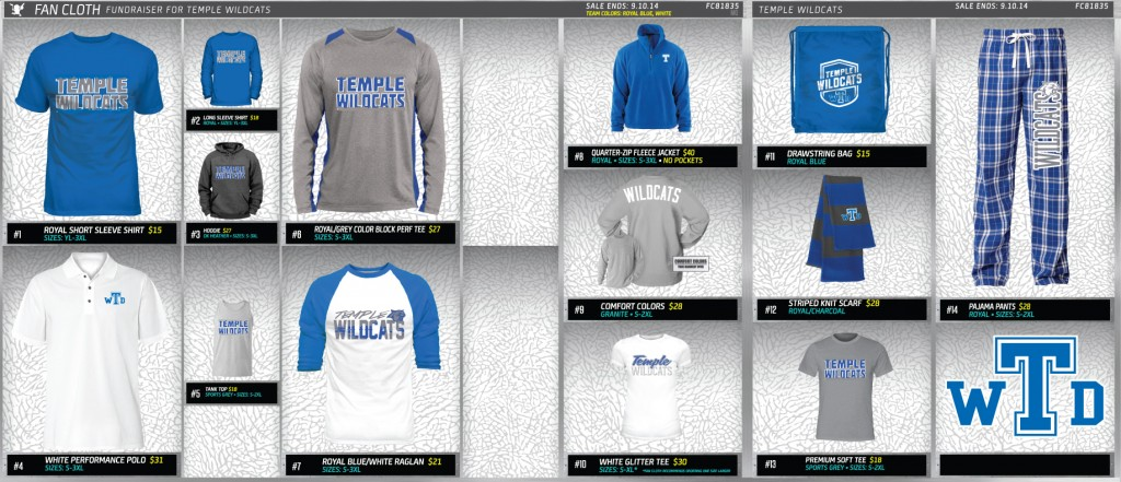 Fan Cloth Wildcat Gear for ATS - Temple Wildcats - Temple High ...