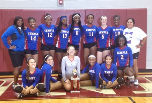 Temple JV Volleyball takes 2nd at Ennis Tourney - Temple ...