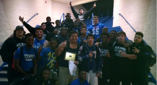 Temple Boys Powerlifting takes first place at Midway