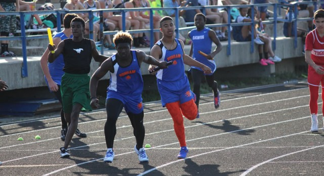 Bonham boys track results from the district meet