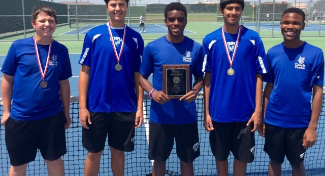 JV Boys Tennis claims 2nd place at 17-5A championships