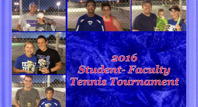 2nd Annual Student/Faculty tennis tournament results