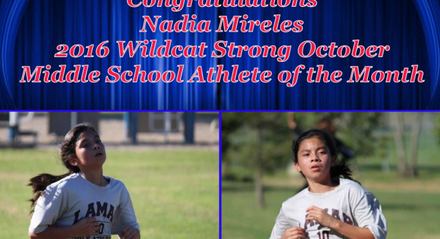 Nadia Mireles voted October Middle School Athlete of the Month