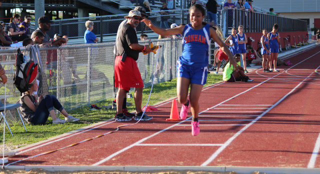 Bonham girls track & field results from the district meet
