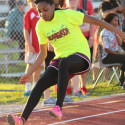 Lamar Girls Track & Field at the District Meet
