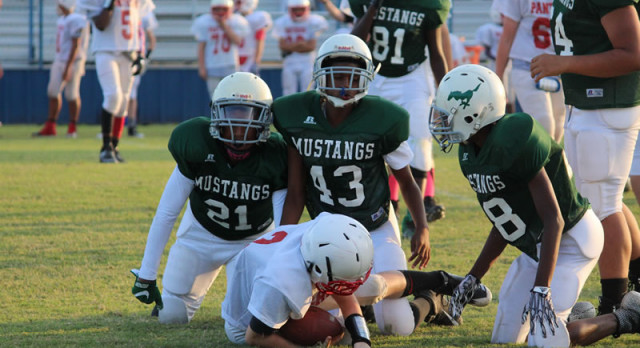 Travis Mustang football recap with Midway Red