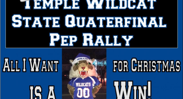 State Quarterfinal pep rally set for Thursday