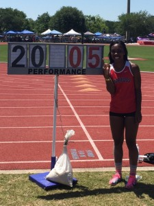 Kiara Williams won the long jump, broke the state record, and is ranked #2 in the U.S.  She also won State in the triple jump, 100m hurdles, and 300m hurdles.