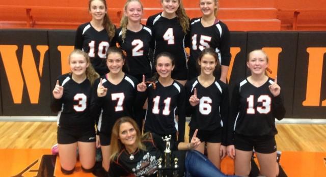 Westville Girls 8th Grade Volleyball win the Blackhawk Invitational 6-0