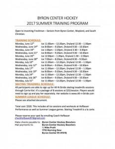 Summer Hockey Info
