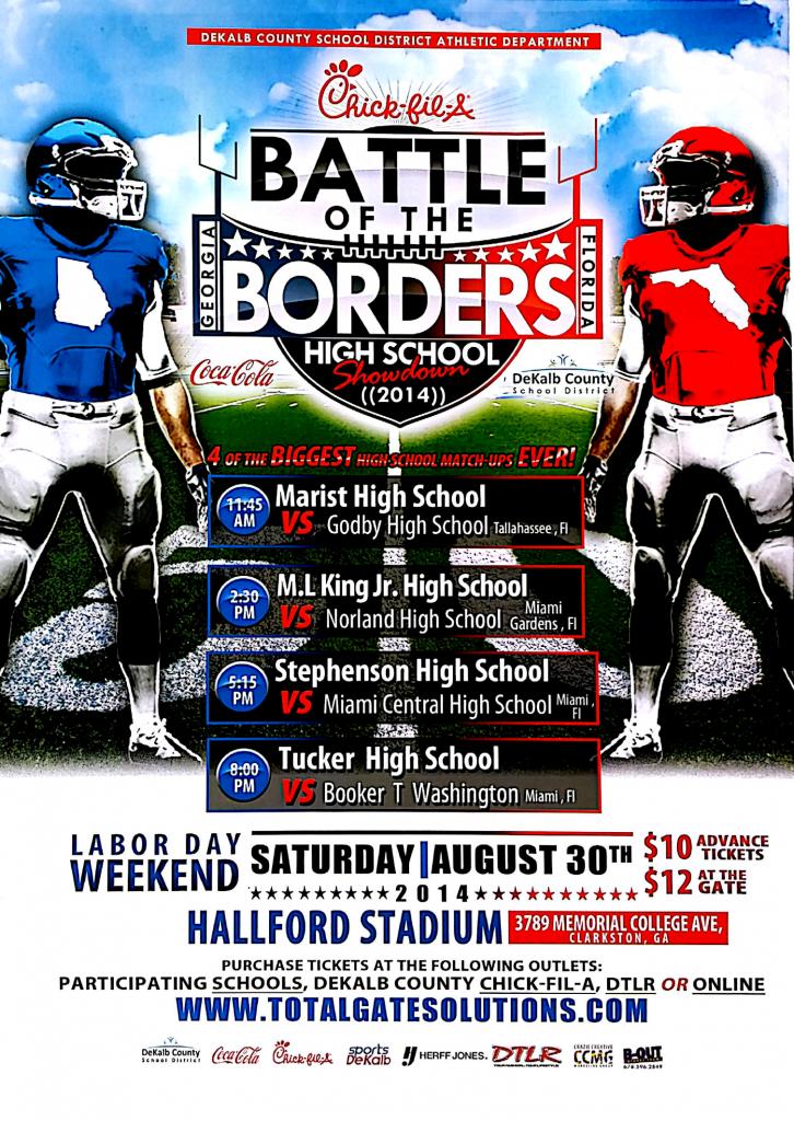 BATTLE OF THE BORDERS  2014 Georgia vs. Florida  High School Showdown