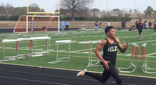 MLK Lions Track Team at the Wildcat Invitational