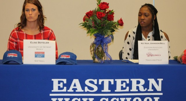 Two Lady Eagles commit to play on the next level!